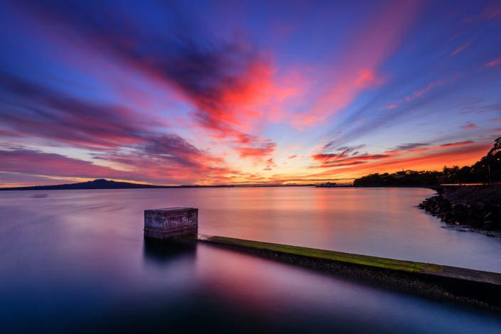 Hauraki Gulf seen from Tamaki Drive, Auckland