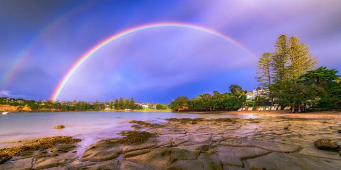 Rainbow over Torbay, Auckland