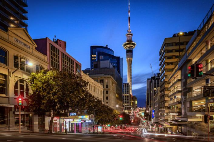 Sky Tower from Albert Park, Auckland